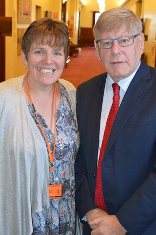 Ange Gowans and Hon Bruce Atkinson